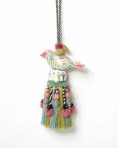 """Harlequin Bird"" Tassel by MacKenzie-Childs at Neiman Marcus."