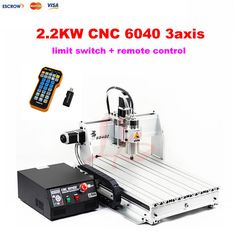 3 axis cnc machine LY CNC 6040 2.2KW cnc metal cutting machine,with limit switch + mach3 remote control + USB port