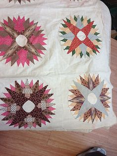 Detail, Antique Hand Stitched Quilt Top Sun Burst Star Design | eBay, southerntradingco2