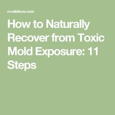 How to Naturally Recover from Toxic Mold Exposure: 11 Steps