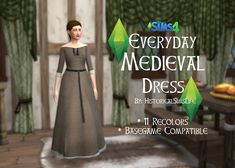 Everyday Medieval Dress by Anni K at Historical Sims Life via Sims 4 Updates