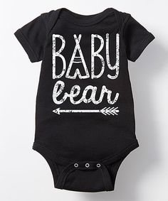 Look what I found on #zulily! Black Arrow 'Baby Bear' Bodysuit - Infant #zulilyfinds