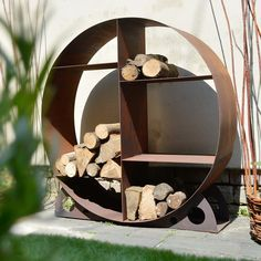 Contemporary Log Store — The Worm that Turned - REVITALISING YOUR OUTDOOR SPACE