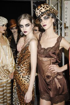 John Galliano for Christian Dior Spring Summer 2008 Ready-to-Wear, leopars satin, leopard hat