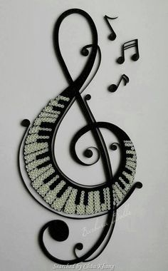 Quilled music note