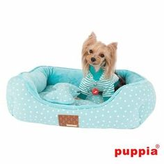 Flora Dog Bed by Puppia - Aqua