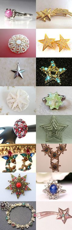 Star Light Star Bright - Vintage Jewelry from Vjt by moonbeam0923 on Etsy--Pinned+with+TreasuryPin.com