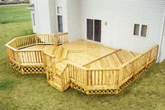 this is our deck on our house we just built last summer!