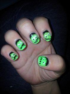 #nails #nailart #frankenstein