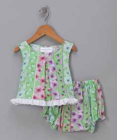 Take a look at this Green Flower Swing Top & Bloomers - Infant by Carolina Kids