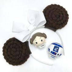 Princess Leia Minnie Mouse Ears Mouse Ears Headband Star Wars