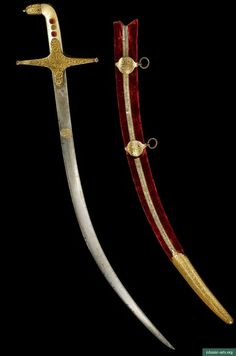 A MOTHER-OF-PEARL HILTED SWORD (SHAMSHIR) WITH SCABBARD, INDIA, LATE 18TH CENTURY