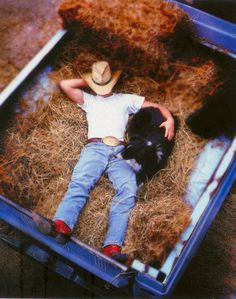 Well hello there cowboy, I need more hay in my garden wanna come on over?