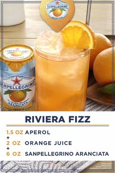 Every occasion deserves bubbles. Live The Life Deliziosa with the Riviera Fizz. Fill a highball glass with ice cubes and add Aperol. Next, add orange juice followed by Sanpellegrino® Aranciata. Stir well with a bar spoon and enjoy the fruits of your labor