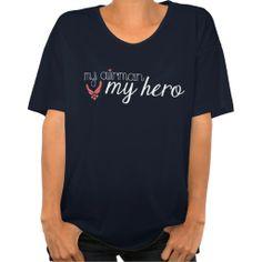 MY AIRMAN MY HERO   AIR FORCE WIFE SHIRT