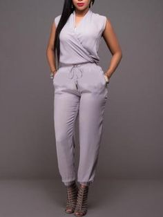 Size Chart Size Length Bust Waist Hips cm inch cm inch cm inch cm inch S 136 80 66 86 M 137 84 70 90 L 138 88 74 94 XL 139 92 78 98 Product Descriptions Style: Fashion Model: Slim Trousers Shape: Knickerbockers Material: L Trend Fashion, Fashion Models, Womens Fashion, Style Fashion, Long Jumpsuits, Jumpsuits For Women, Fashion Jumpsuits, Fashion Pants, Summer Outfits For Teens