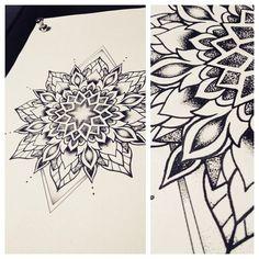 Mandala by Miss Sita #mandalatattoo #dotwork #tattooshop #tattoobarcelona #oneoninetattoo #misssita #linework  (presso One O Nine)