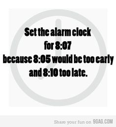 Set the alarm clock for 8:07