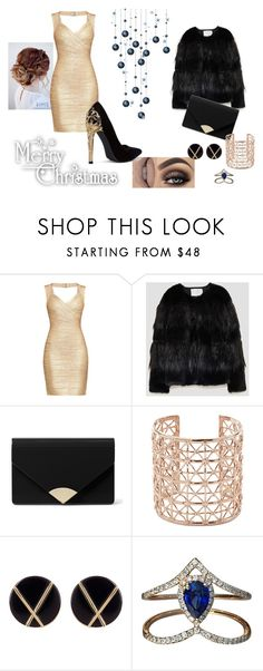 """Christmas 2017 #1"" by modefan2 on Polyvore featuring mode, Hervé Léger, MICHAEL Michael Kors, Co.Ro, Botkier et Djula"