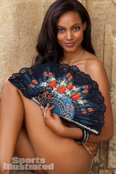 2013 Sports Illustrated Swimsuit. Ariel Meredith was photographed by Alex Cayley in  Arcos, Spain. Fan by Juan Foronda .