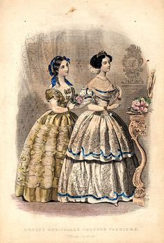 Godey's Magazine Fashion Plates 1855