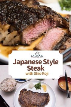 March 2018 Japanese Style Steak with Shio Koji All Day I Eat - like a shark There is nothing like a juicy rib-eye steak, properly cooked and properly seasoned now is there? I don't eat meat as often as I used to so when I do I Food Food, japanese Wine Recipes, Asian Recipes, Gourmet Recipes, Ramen Recipes, Japanese Steak, Japanese Food, Easy Japanese Recipes, Good Food, Yummy Food