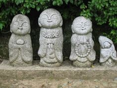 Adorable Jizos in Sagano, Kyoto