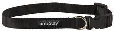 Adjustable collar with lock Basic. Black