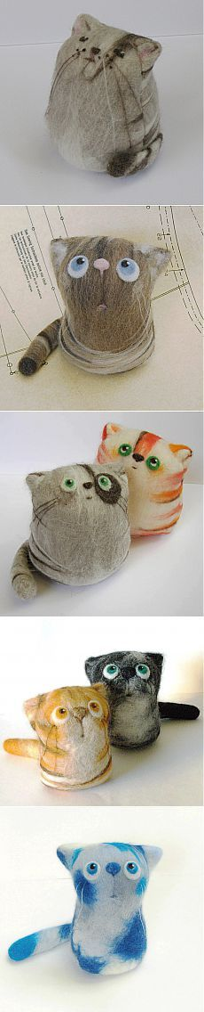 игрушки коты от fingtoys.