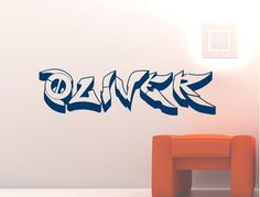 Purchase one of our super cool personalised graffiti name wall stickers and add the perfect personal touch to any teens bedroom. Wall Stickers Graffiti, Boys Wall Stickers, Childrens Wall Decals, Personalised Wall Stickers, Custom Wall Stickers, Wall Sticker Design, Graffiti Wall, Wall Decal Sticker, Easy Graffiti Drawings