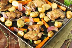 Looking for an easy, versatile, low-maintenance way to make dinner?  Look no further than the sheet pan dinner!  Made with your main and side all roasted in the same pan, it's the easy oven version of the one-pot meal.