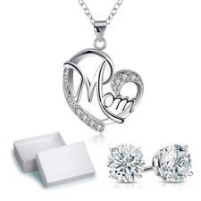 Sterling Silver Diamond-Accent Heart Locket Pendant Necklace with Free Earring