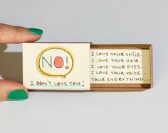 Cute Love Card / Anniversary Card / Matchbox Gift box / Message box/ I love your everything