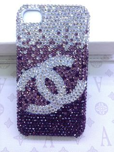 Bling iPhone Case Bling color Crystal Channel cases cute cover fits for iPhone 4 Case Rainstone iPhone 4s Case, iPhone 4 Hard Case. $28.00, via Etsy.
