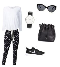 """Sport style"" by lelybely-polyvore ❤ liked on Polyvore featuring NIKE, Proenza Schouler, Daniel Wellington and Splendid"