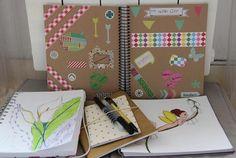 24: carnets: mon petit carnet des trinomettes, et mes multiples carnets pour griphonner au grès de mes envies!!  #Flow29jours #lepetitbazardestrinomettesendelire