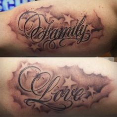 Cloud Tattoo Designs for Men Familly and Love