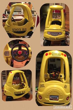 Our Cozy Coupe makeover school bus. Fun.