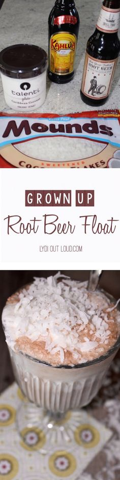 Adult style Root Beer Float with Coconut gelato! 50% dessert, 50% cocktail, 100% ahhhhmazing!!!
