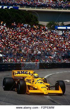 Ayrton in his Lotus Honda at the Monaco GP 1987