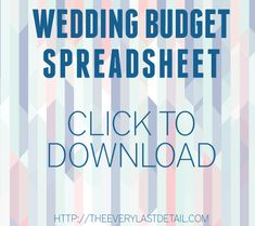 Wedding Budget Spreadsheet  The Wedding Specialists  Becoming