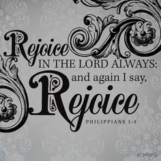 We have so much to be thankful for...there's never a reason to not be rejoicing...
