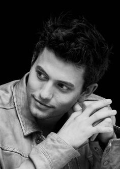 Jackson Rathbone in black and white