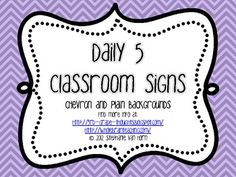 These poster sets are a perfect addition to your Daily 5 Classroom.Made to match the Whole Brain Teaching Posters, these will add color and sty...