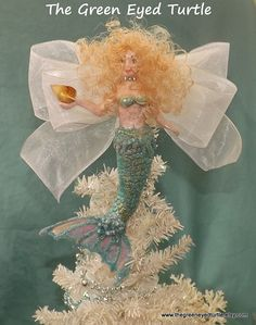 Blonde Mermaid Tree Topper by TheGreenEyedTurtle on Etsy