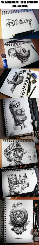 Amazing graffiti of cartoon characters - http://memeheroes.com/b69fe-amazing-graffiti-of-cartoon-characters/