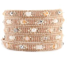 Chan Luu - Champagne Mix Wrap Bracelet on Peach Leather, $180.00 (http://www.chanluu.com/wrap-bracelets/champagne-mix-wrap-bracelet-on-peach-leather/)