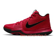 size 40 f69c2 88657 Chaussures Basket Nike Kyrie 3 University Red Black 852395-600 Nike Prix  Pour homme -