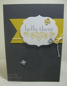Hello there card using Happy Day stamp set. www.magpiecreates.com #stampinup #magpiecreates Stampin' Up!