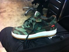 Camo Nike Air Force 1s